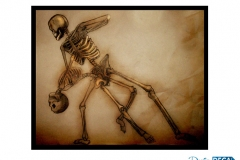 Sketch skeleton dance
