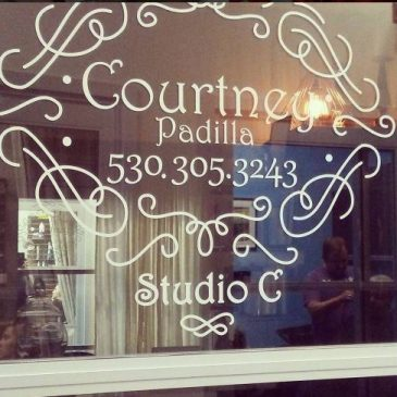 Salon Sliding Door Decal