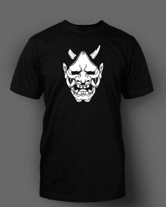 White Haunya Mask, Black T-shirt