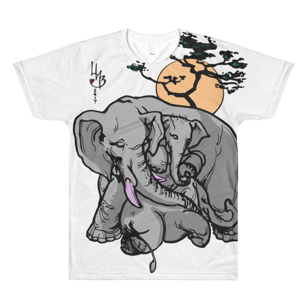 Pink Ivory Family LHB All-Over Printed T-Shirt